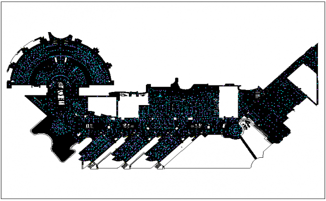 Commercial building plan detail dwg file