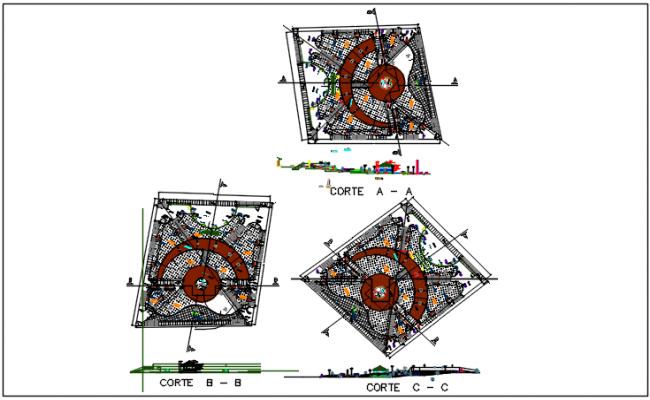 Commercial building plan in celler plan detail dwg file