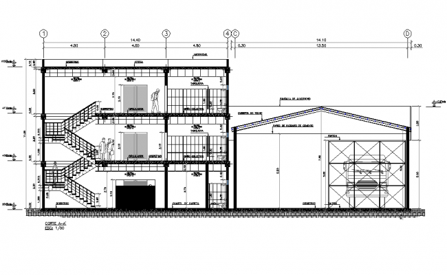 Commercial building project elevation file