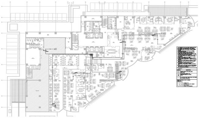 Commercial building wireless access point over all layout.