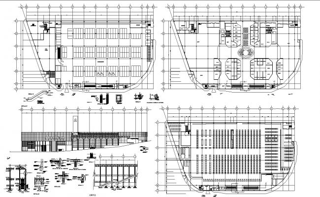 Commercial center autocad format