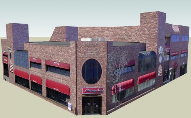 Commercial complex in 3D