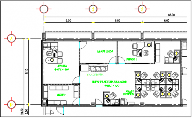 Commercial elevation plan detail dwg file