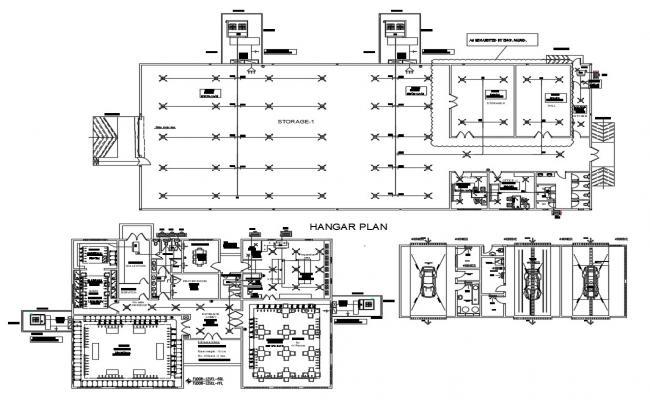 Commercial hub CAD plan Download
