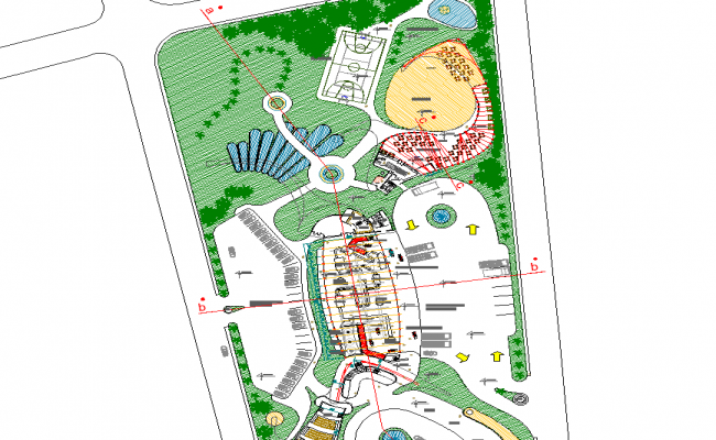 Commercial layout plot detail