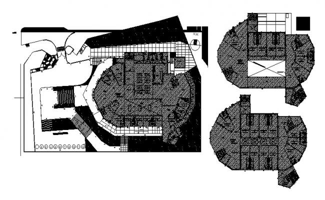 Commercial office drawing in dwg file