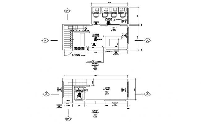 Commercial office layout dwg file