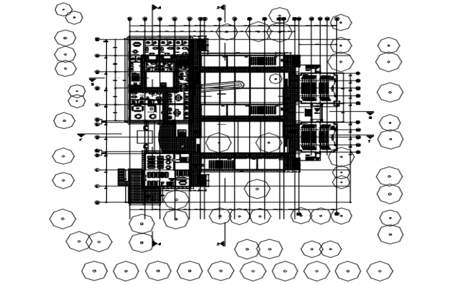 Commercial office layout in AutoCAD