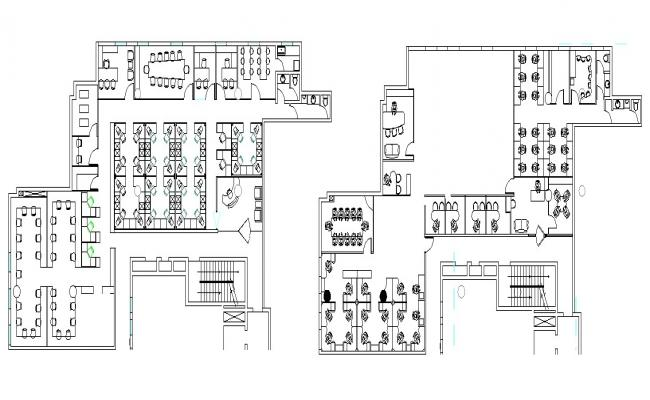 Download Free Commercial Office Layout In DWG File