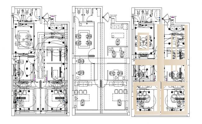 Office Design Plan In DWG File