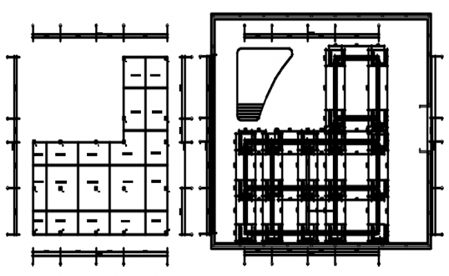 Commercial office layout in dwg file