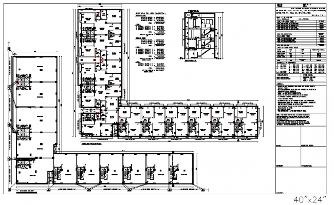 Commercial plan, elevation and section detail dwg file