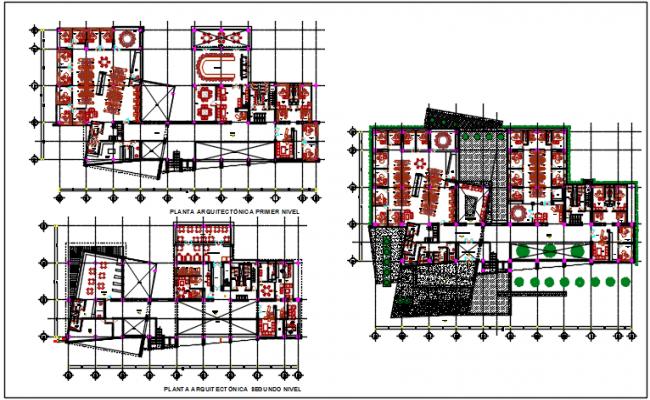 Commercial plan center line details dwg files