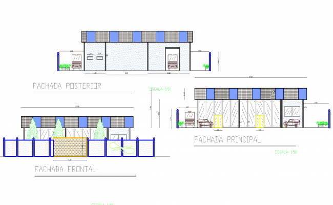 Commercial plan detail dwg file.