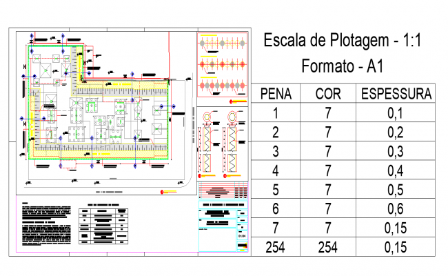 Commercial plan view detail dwg file