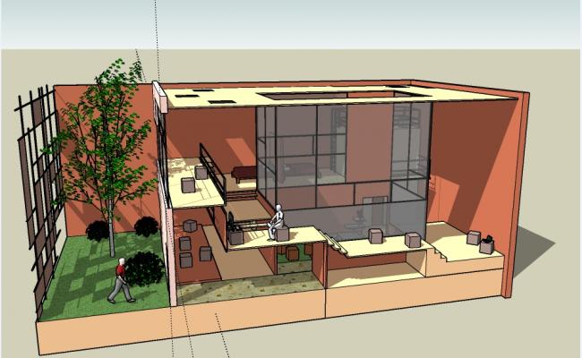 Commercial plaza elevation design