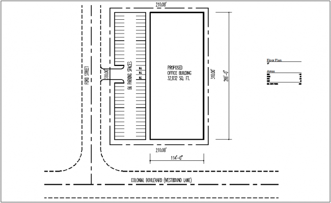 Commercial site plan dwg file