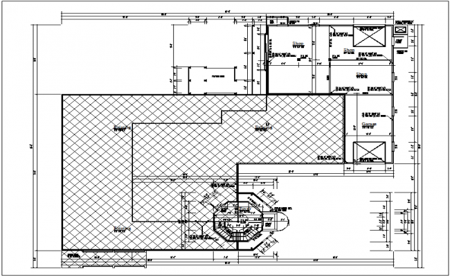 Commercial structure  plan layout detail dwg file