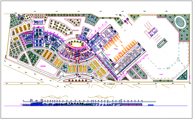 Commercial structure plan detail dwg file