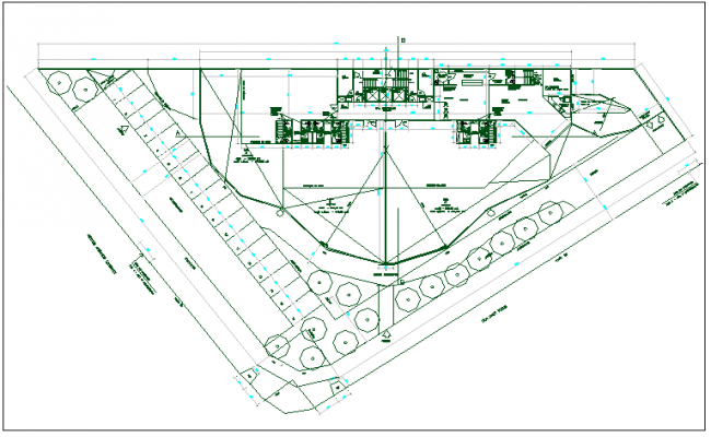 Commercial structure plan detail view dwg file