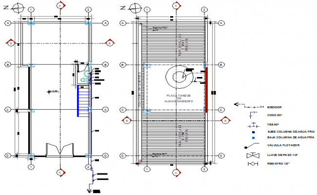 Commercial ware house plan detail dwg file