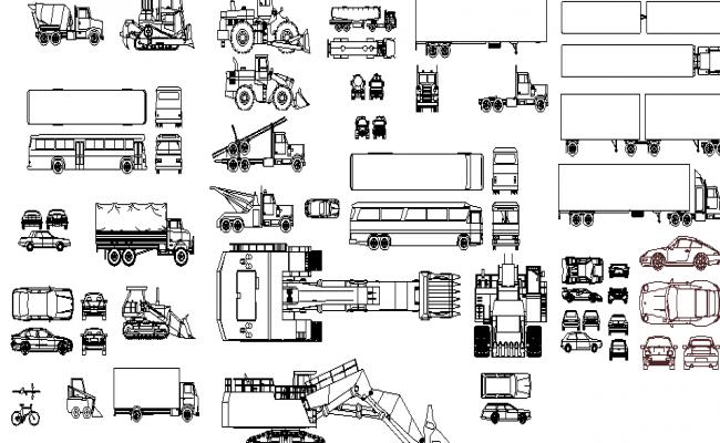 Common Vehicle Blocks dwg file