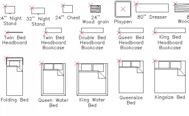 common bedroom furniture blocks design dwg file rh cadbull com
