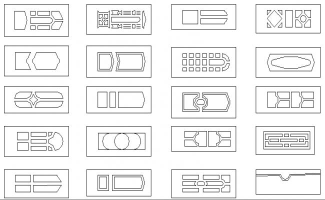 Common column design elements blocks dwg file