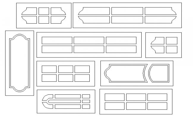 Common door designing blocks details dwg file