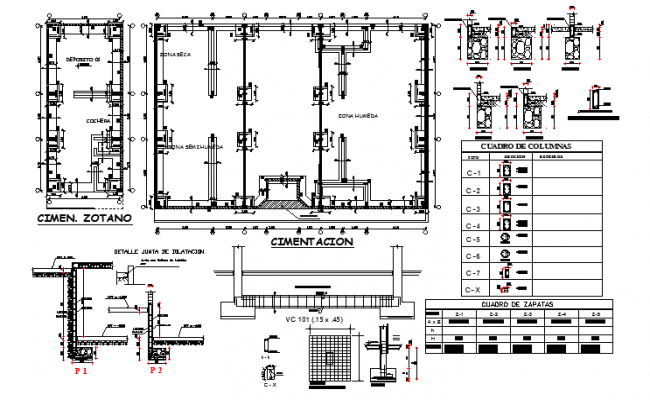 Communal market  architectural plan