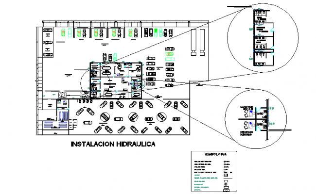 Complete architectural layout plan of car parking