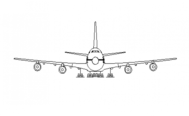 Complete front view elevation of aircraft