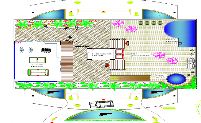 Complete layout plan of a site dwg file