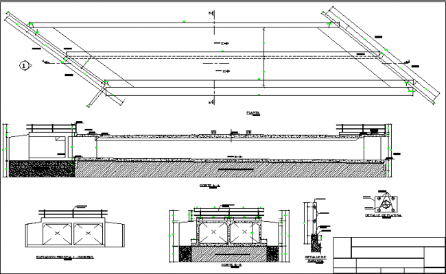 Complete sectional detail