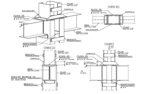 Composite Column Design CAD File