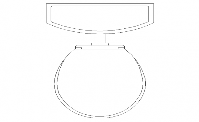 Composting toilet Top View 2D Block