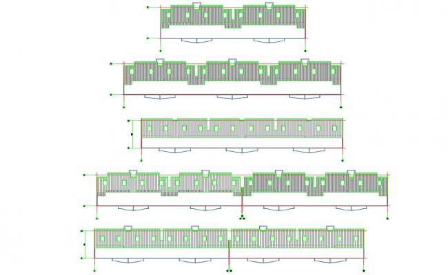 Compound Boundary Wall Design DWG File