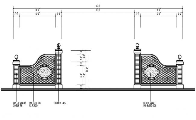 Compound Wall Design DWG File