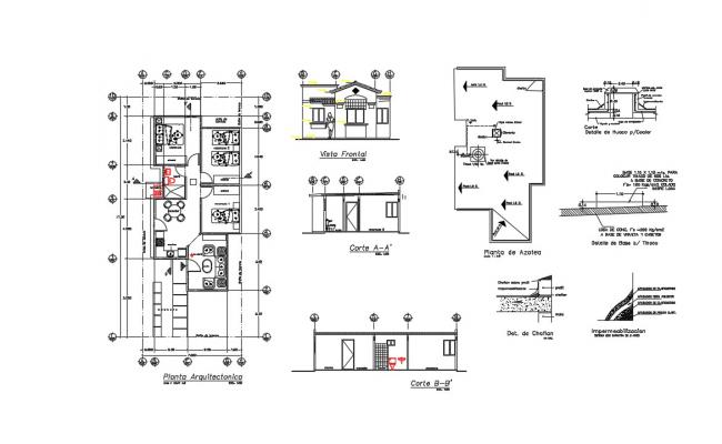 Compound Wall Section In AutoCAD File