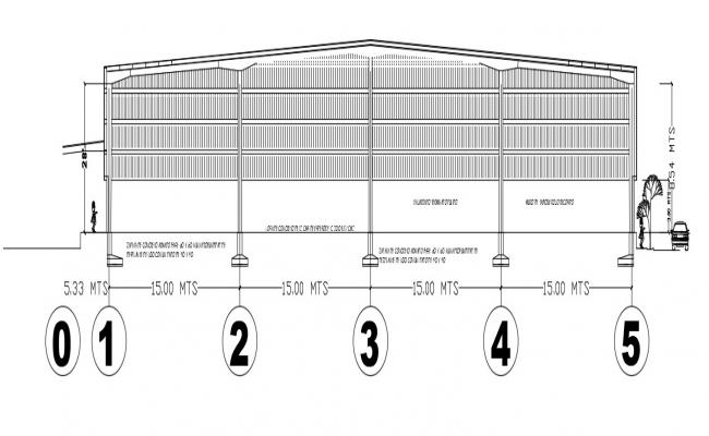 Compound boundary wall design dwg autocad file