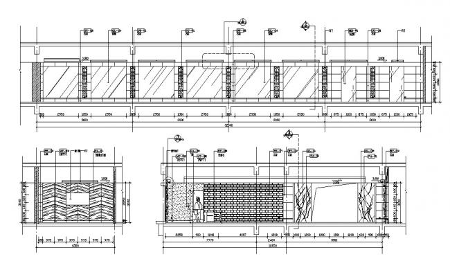 Compound wall Design AutoCAD drawing