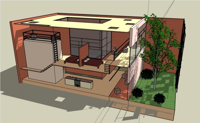 Concept of building design dwg file