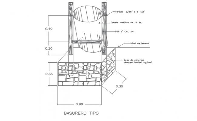 concrete mixer Detail AutoCAD File