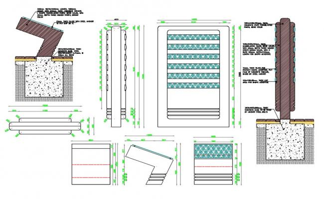 Concrete Work CAD Drawing