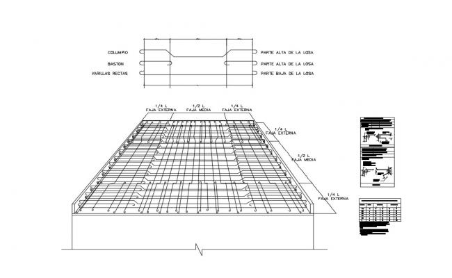 Concrete armed structure cad drawing details dwg file
