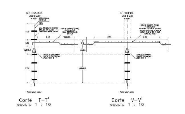 Concrete beam blocks cad structure details dwg file