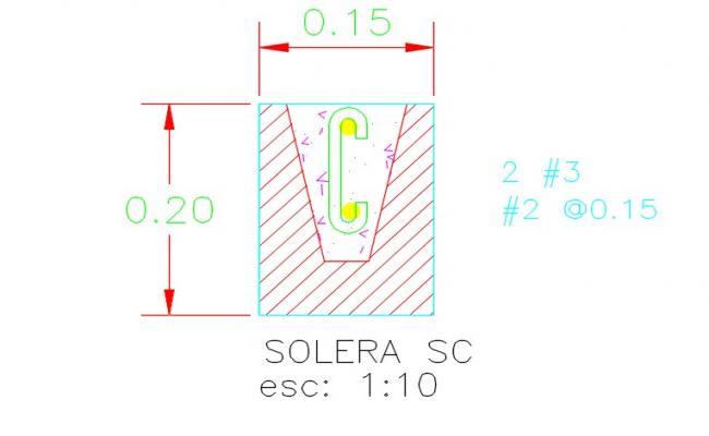 Concrete block for sole