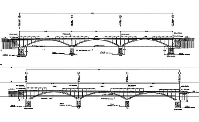Concrete bridge section detail dwg file