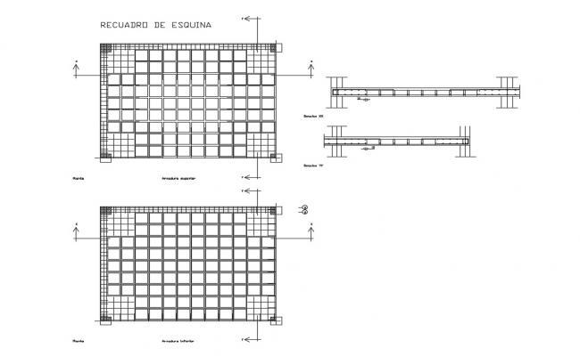 Concrete slab structure and construction details dwg file