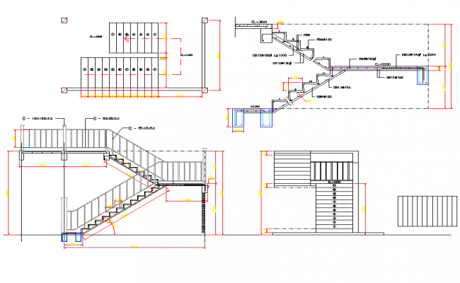 Charmant Concrete Stairs Plan Detail Dwg.